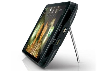 The HTC Evo jackstand in action