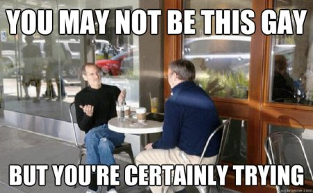 Steve Jobs having a gay lunch in Palo Alto with Eric Schmidt